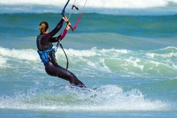 Windsurfer, Strand beach, Cape Town, Western Cape