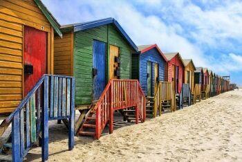 Muizenberg beach, Cape Town, Western Cape